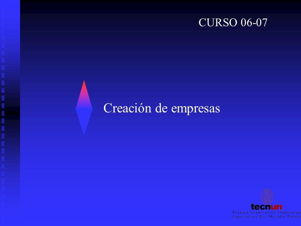 CURSO 06-07 Creación de empresas