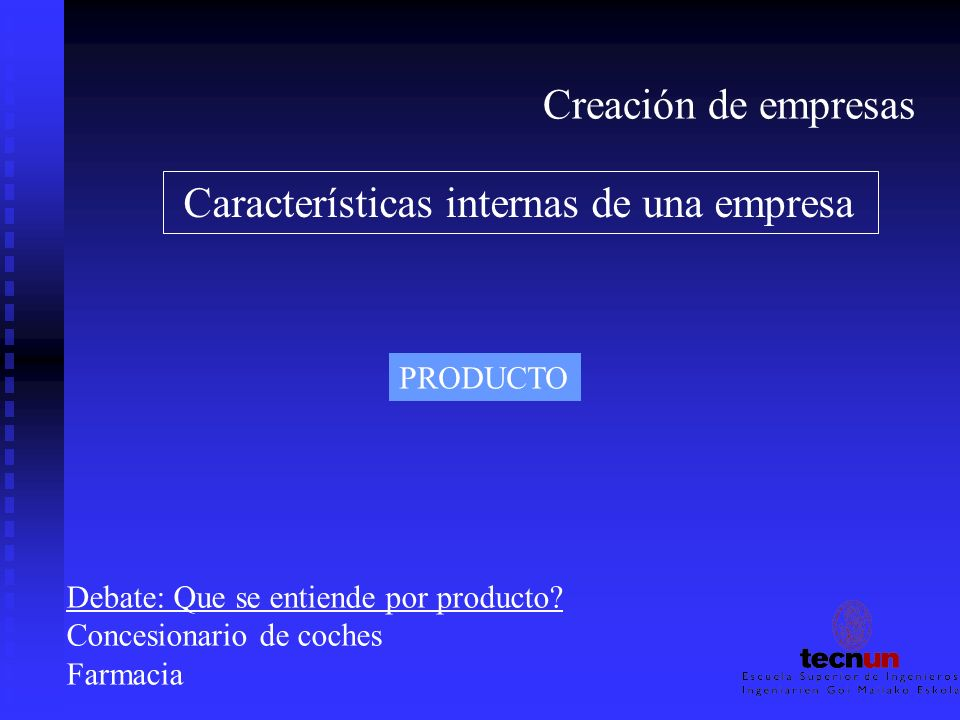 Características internas de una empresa
