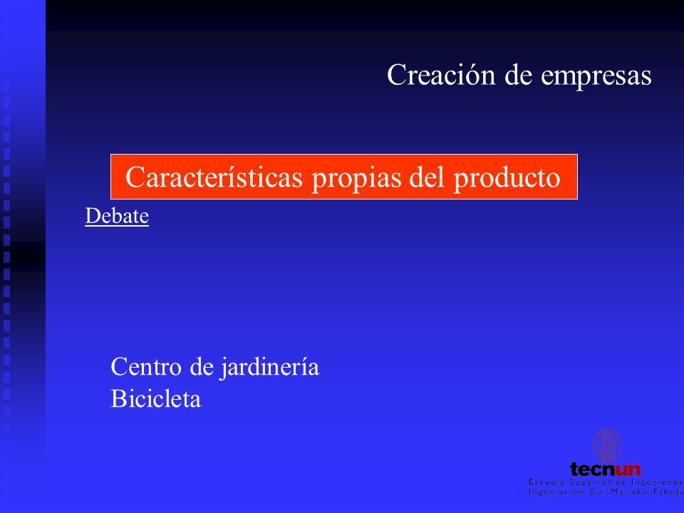 Características propias del producto
