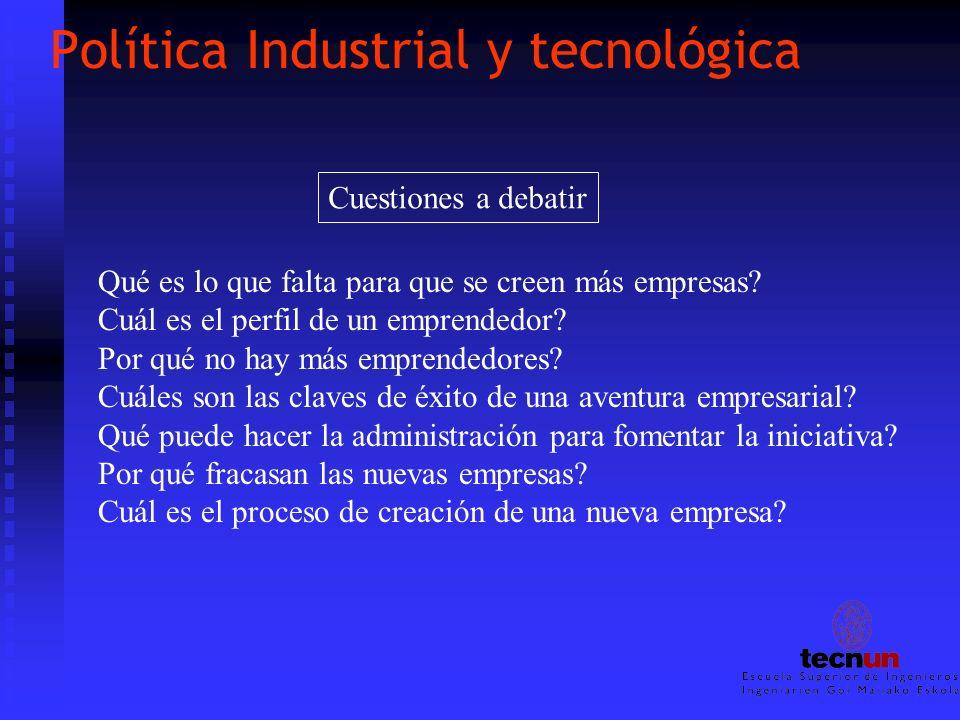 Política Industrial y tecnológica