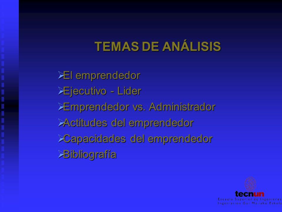 TEMAS DE ANÁLISIS El emprendedor Ejecutivo - Lider