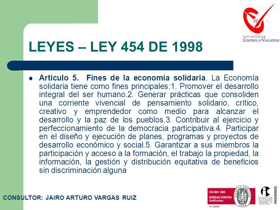 LEYES – LEY 454 DE 1998