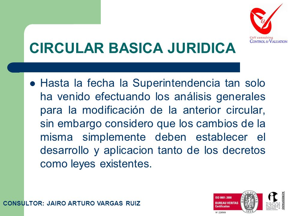 CIRCULAR BASICA JURIDICA