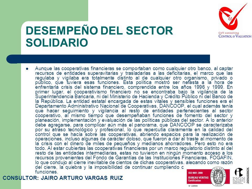 DESEMPEÑO DEL SECTOR SOLIDARIO