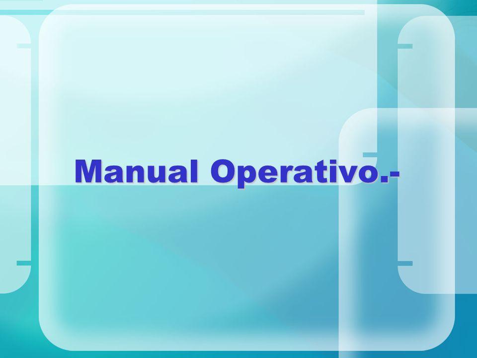 Manual Operativo.-