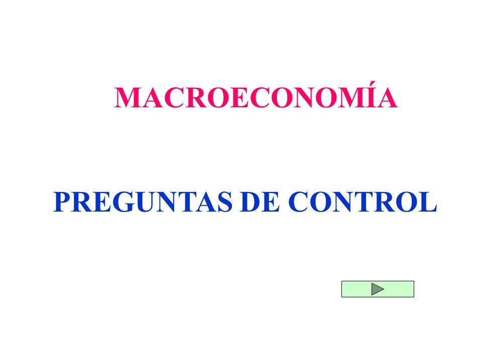 MACROECONOMÍA PREGUNTAS DE CONTROL