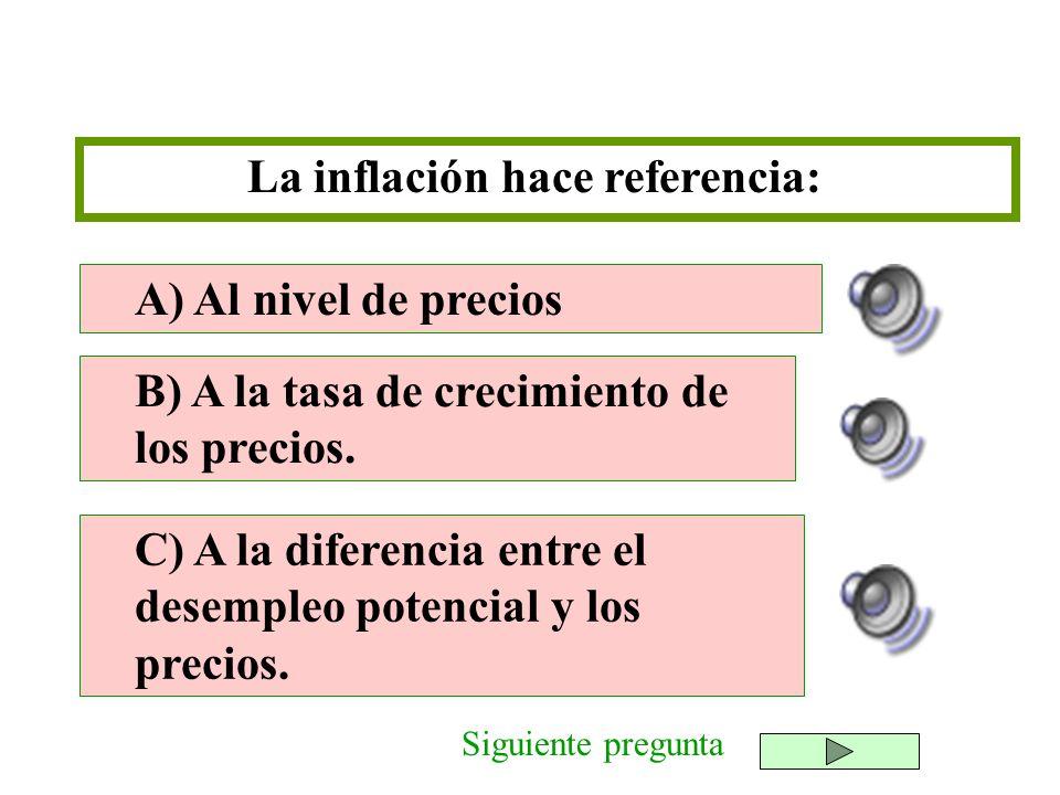 La inflación hace referencia: