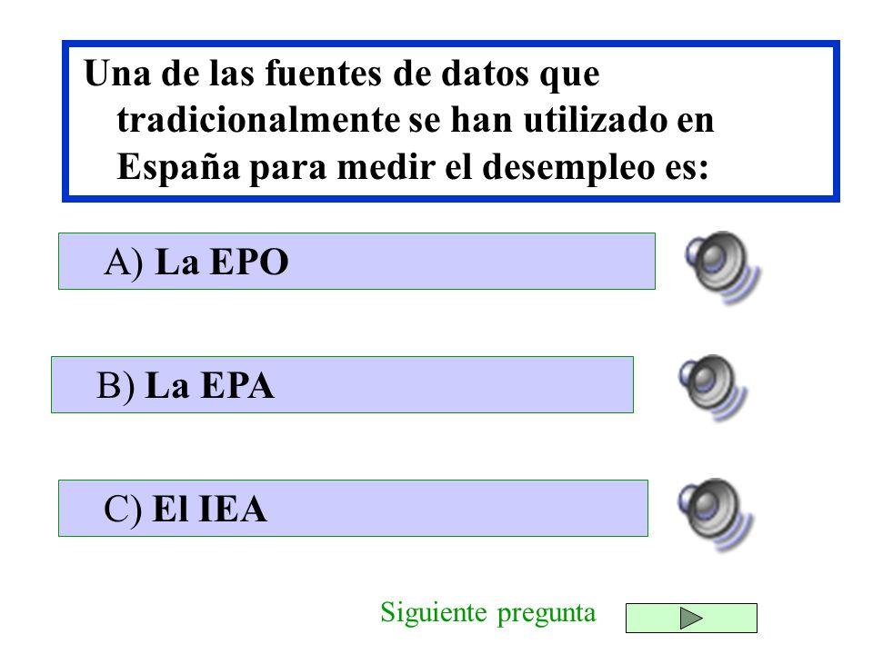Una de las fuentes de datos que tradicionalmente se han utilizado en España para medir el desempleo es: