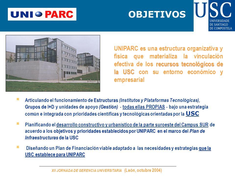 XII JORNADA DE GERENCIA UNIVERSITARIA (León, octubre 2004)