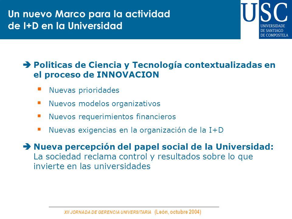 Un nuevo Marco para la actividad de I+D en la Universidad