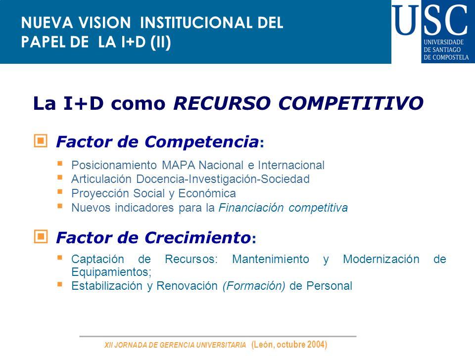 NUEVA VISION INSTITUCIONAL DEL PAPEL DE LA I+D (II)