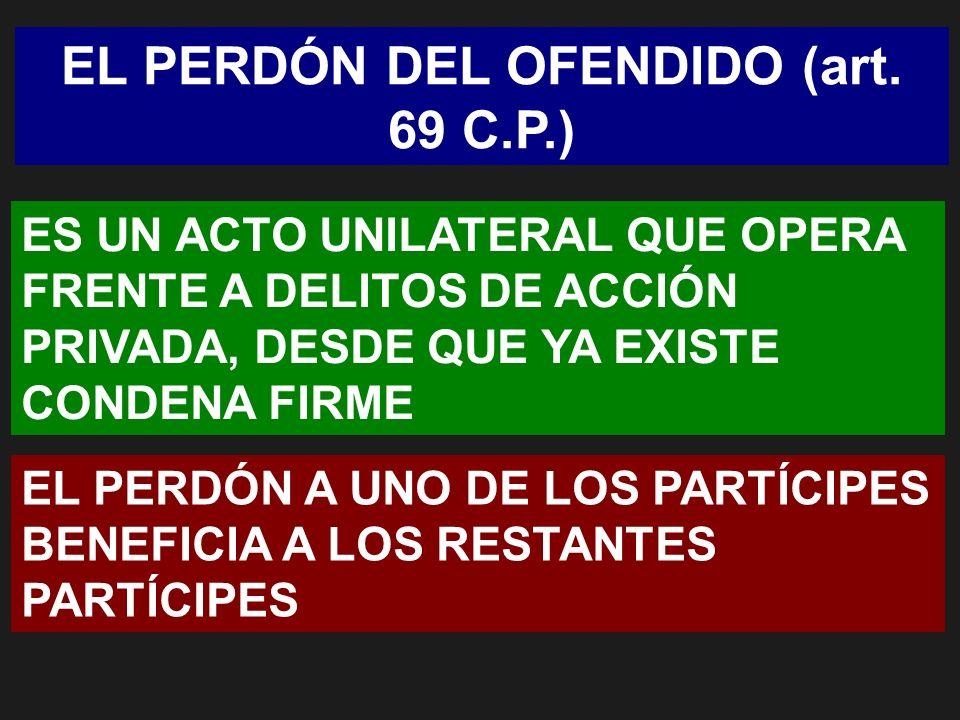 EL PERDÓN DEL OFENDIDO (art. 69 C.P.)
