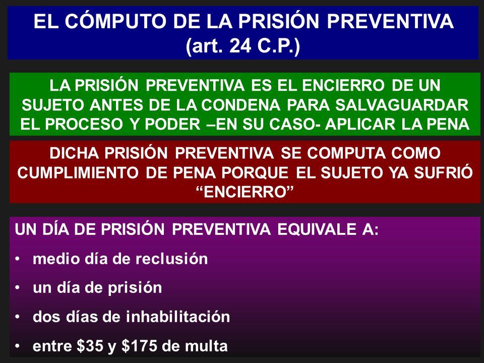 EL CÓMPUTO DE LA PRISIÓN PREVENTIVA (art. 24 C.P.)
