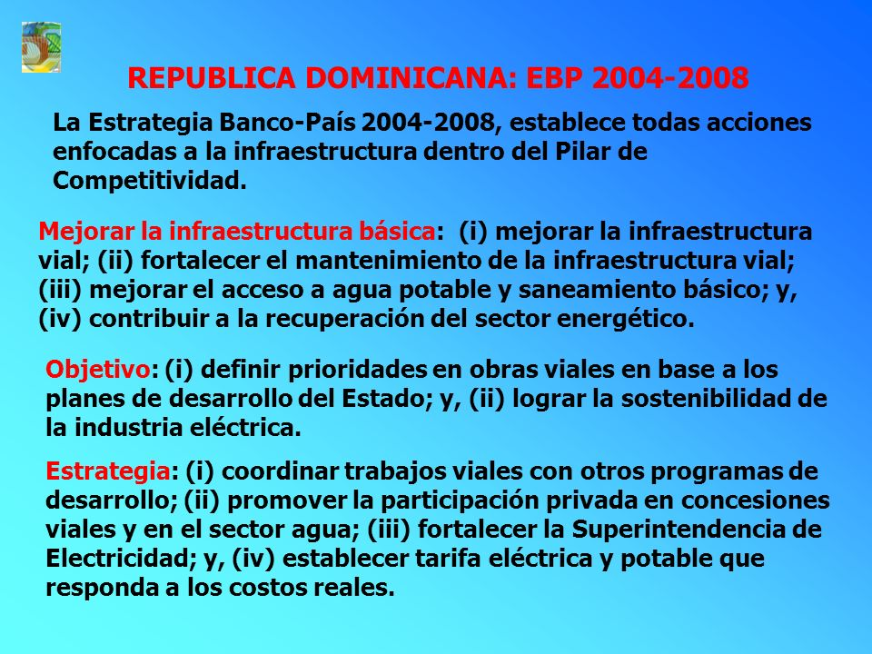 REPUBLICA DOMINICANA: EBP 2004-2008