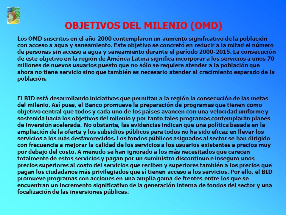 OBJETIVOS DEL MILENIO (OMD)