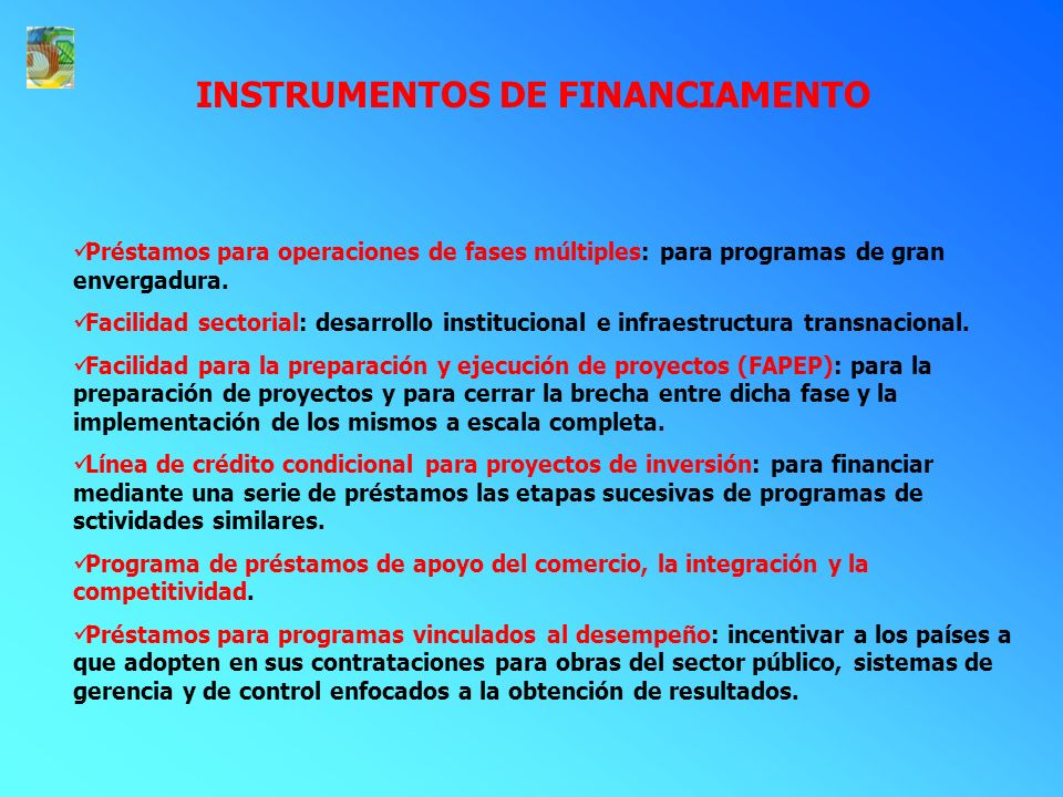 INSTRUMENTOS DE FINANCIAMENTO