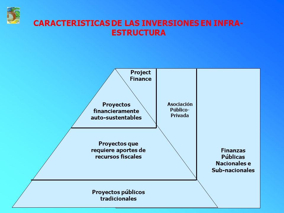 CARACTERISTICAS DE LAS INVERSIONES EN INFRA-ESTRUCTURA