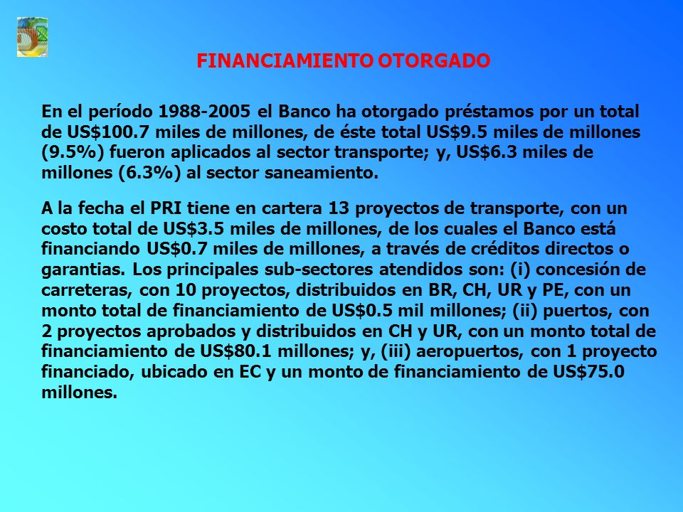 FINANCIAMIENTO OTORGADO