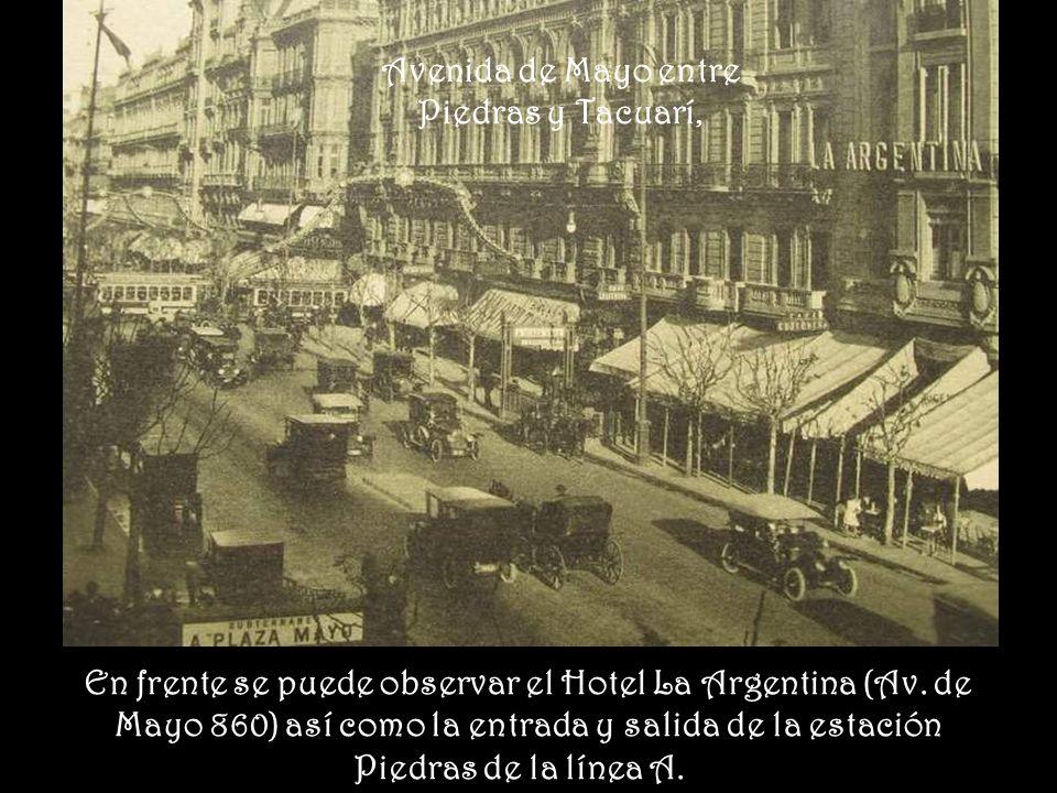 Avenida de Mayo entre Piedras y Tacuarí,