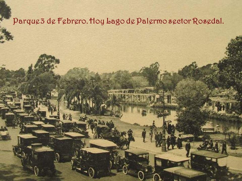 Parque 3 de Febrero. Hoy Lago de Palermo sector Rosedal.