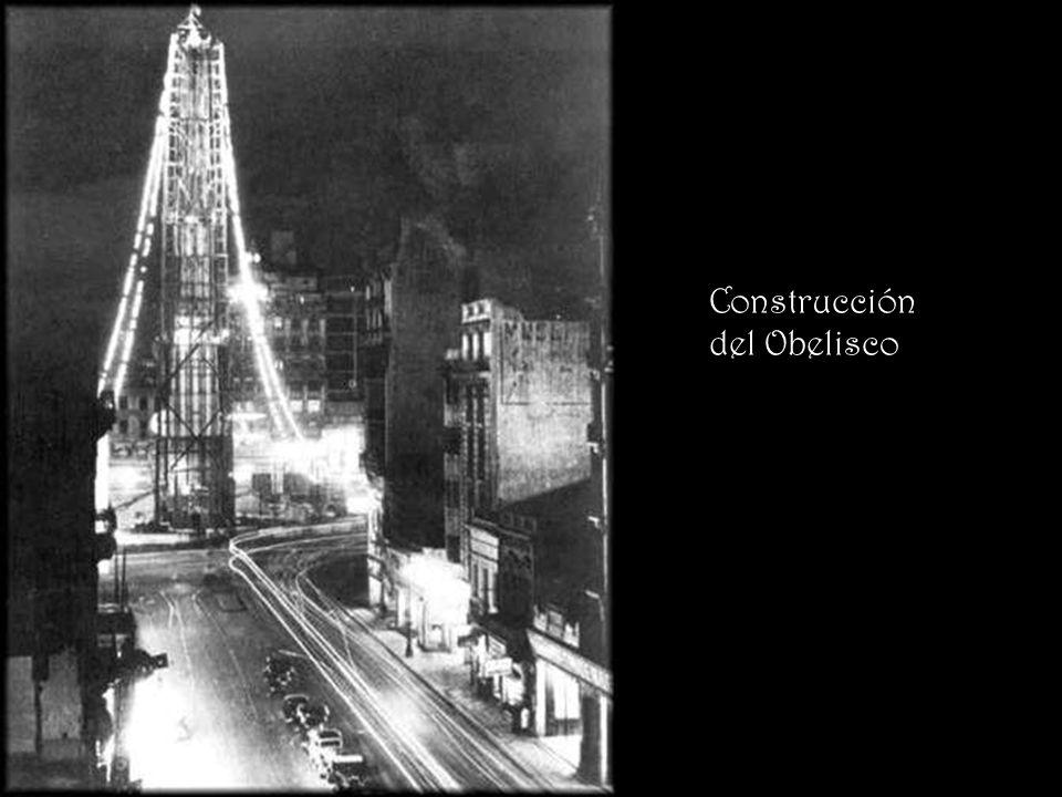 Construcción del Obelisco
