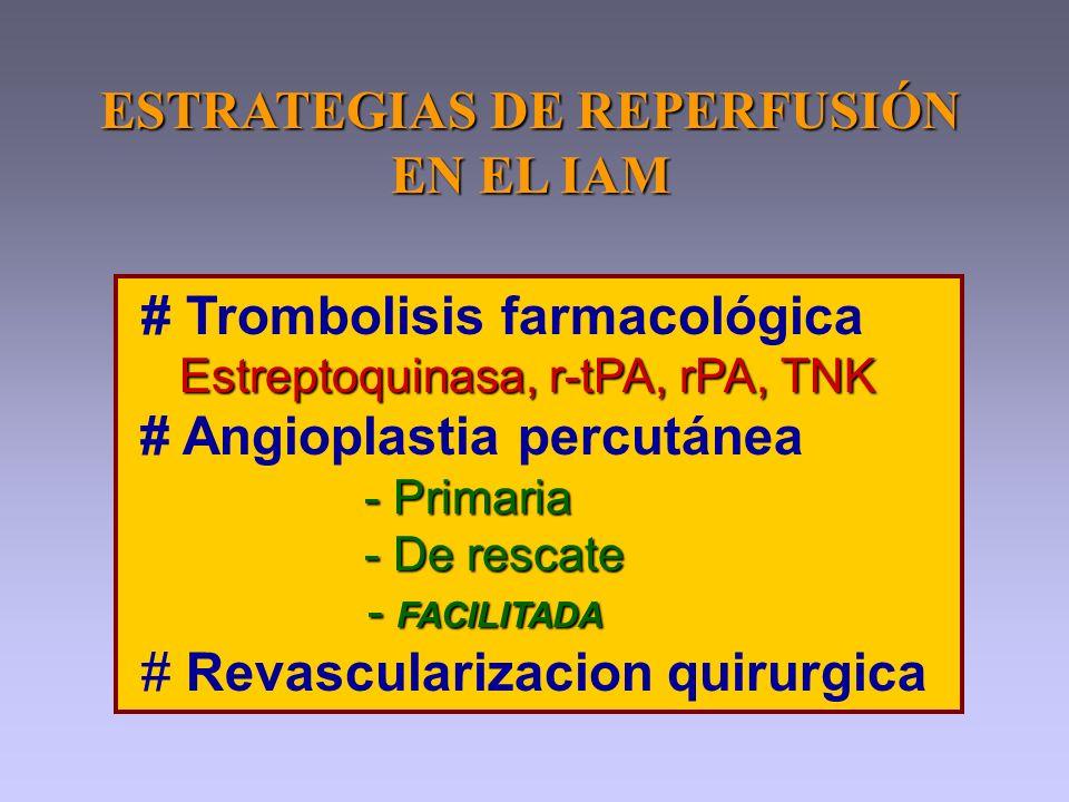 ESTRATEGIAS DE REPERFUSIÓN EN EL IAM