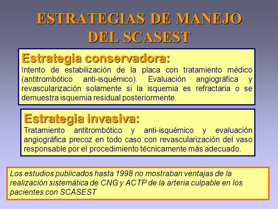 ESTRATEGIAS DE MANEJO DEL SCASEST