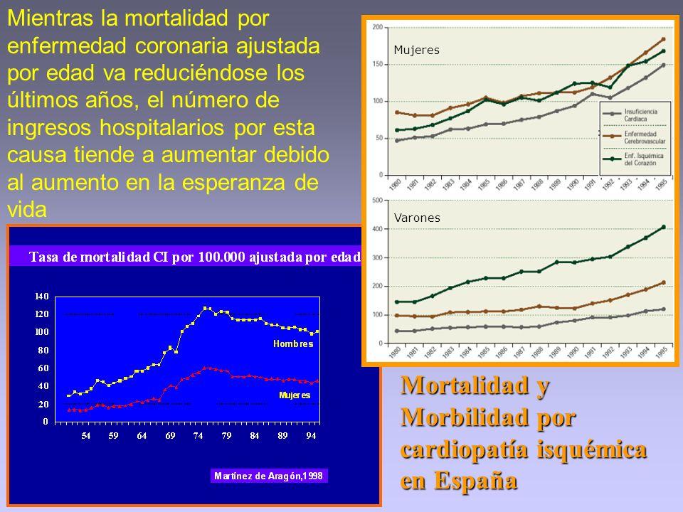 Mortalidad y Morbilidad por cardiopatía isquémica en España