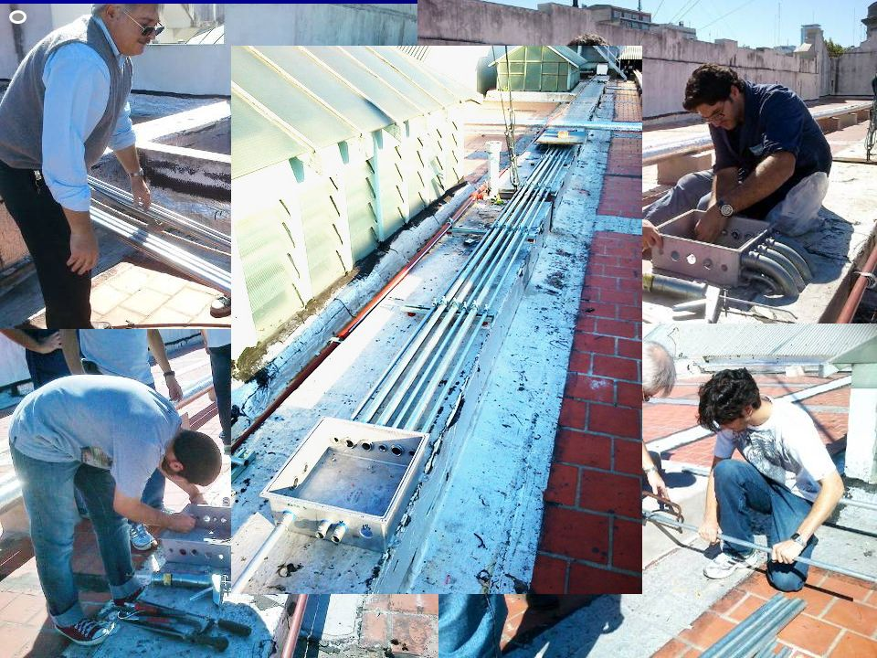 En lo que va del 2012 … Instalación de cañerías y cajas para cableado desde la azotea a la Sala de Control.