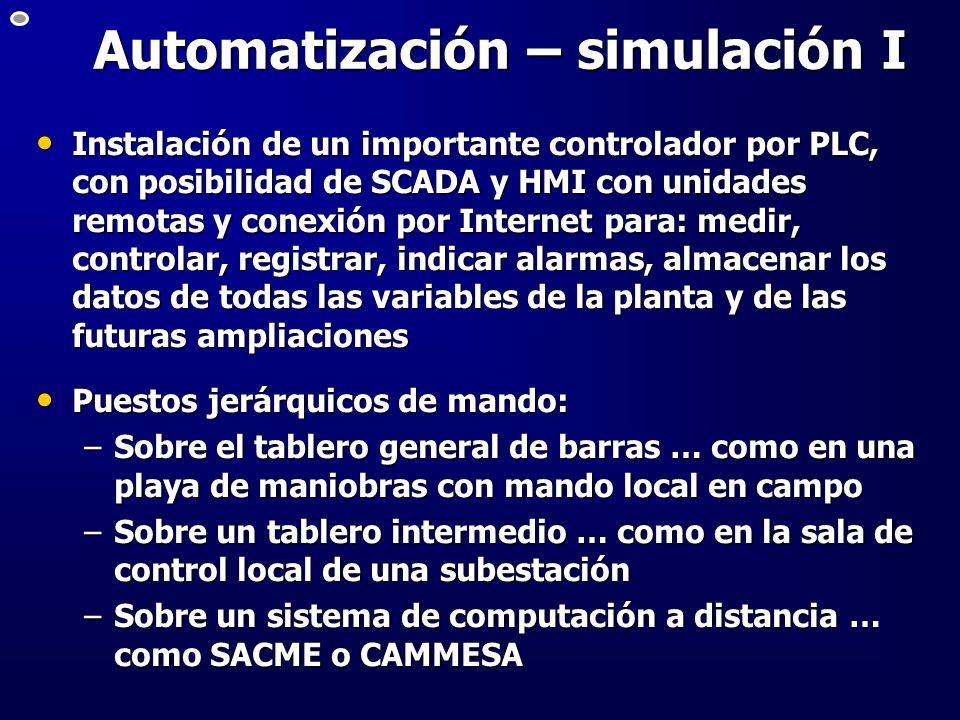Automatización – simulación I