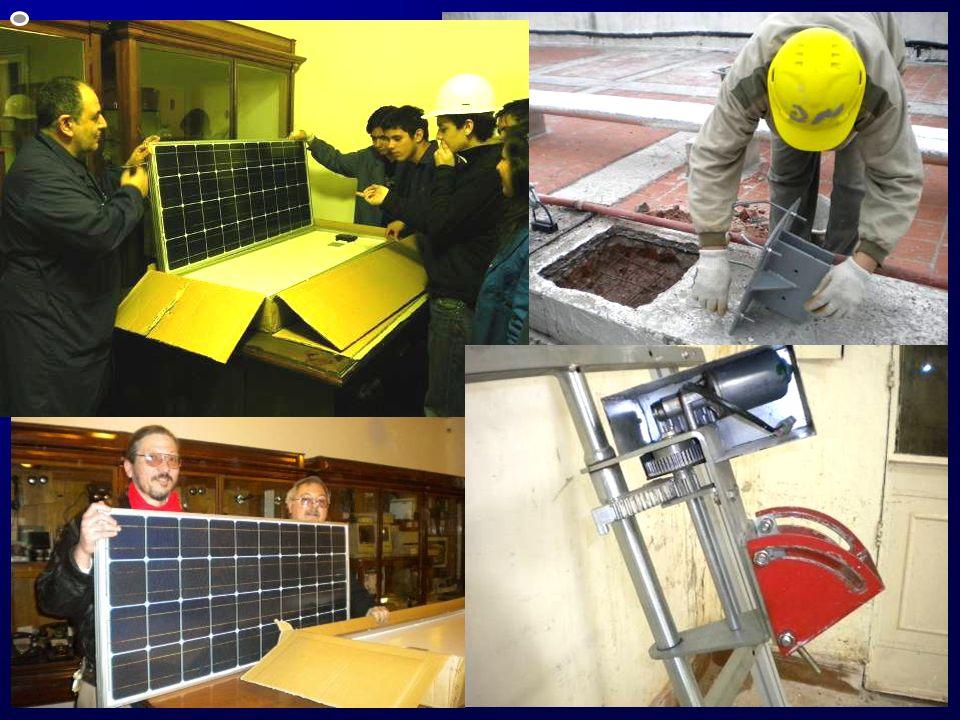 Trabajos durante 2011 Hormigonado de la base para la instalación del 1° panel fotovoltaico.