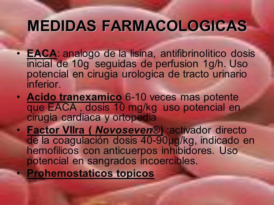 MEDIDAS FARMACOLOGICAS