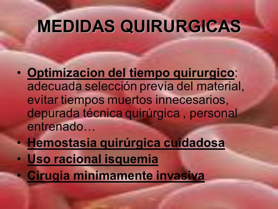 MEDIDAS QUIRURGICAS