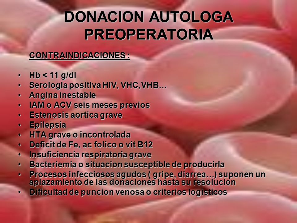 DONACION AUTOLOGA PREOPERATORIA