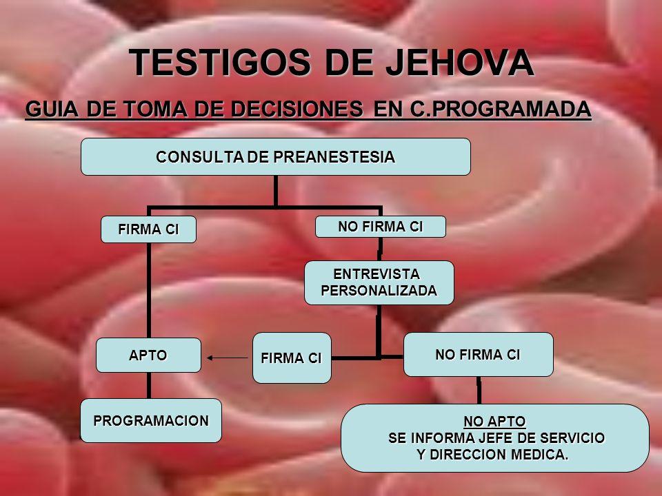 TESTIGOS DE JEHOVA GUIA DE TOMA DE DECISIONES EN C.PROGRAMADA