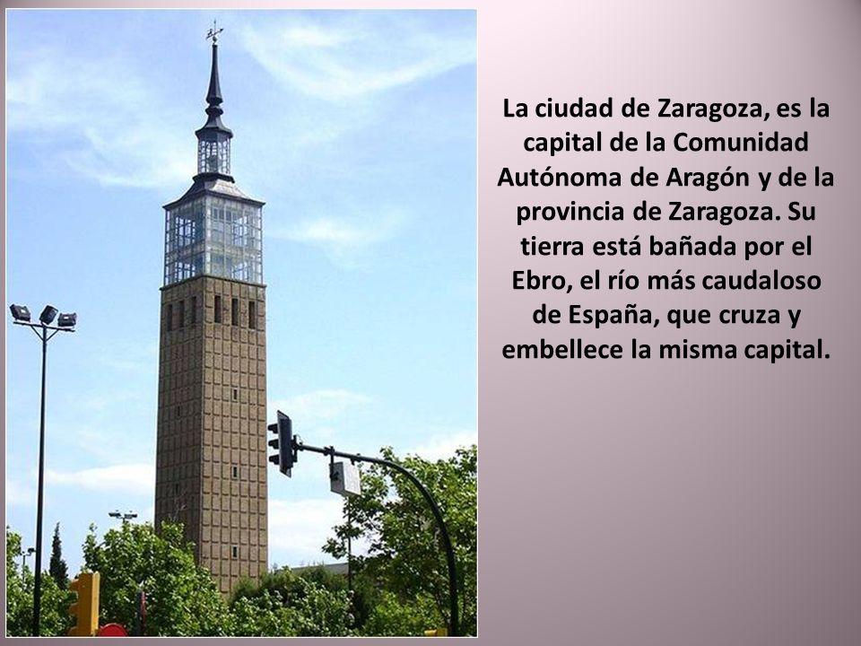 La ciudad de Zaragoza, es la capital de la Comunidad Autónoma de Aragón y de la provincia de Zaragoza.