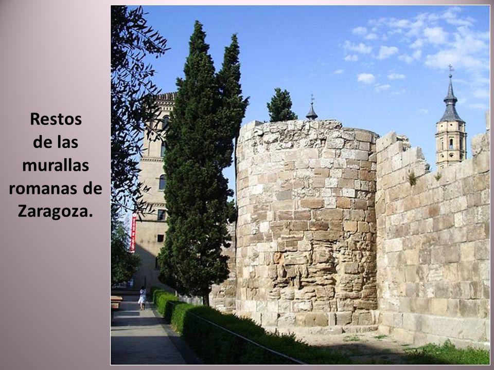 de las murallas romanas de Zaragoza.