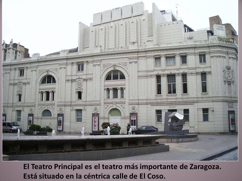 El Teatro Principal es el teatro más importante de Zaragoza