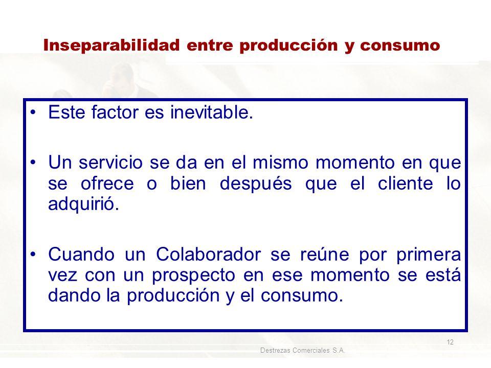 Inseparabilidad entre producción y consumo