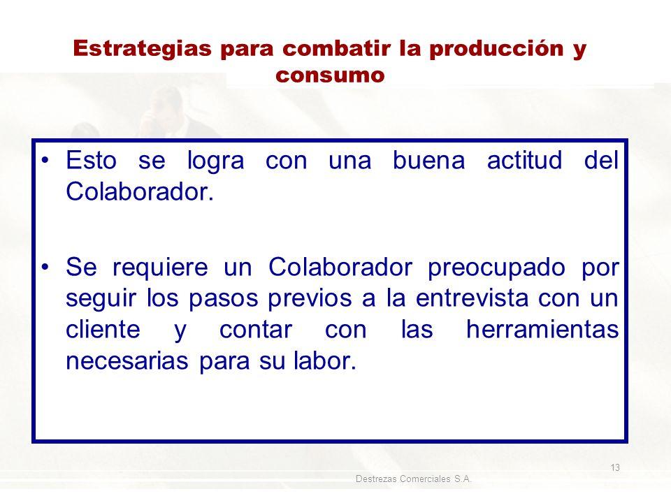 Estrategias para combatir la producción y consumo