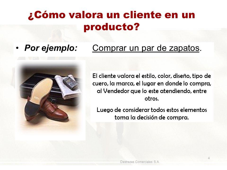 ¿Cómo valora un cliente en un producto