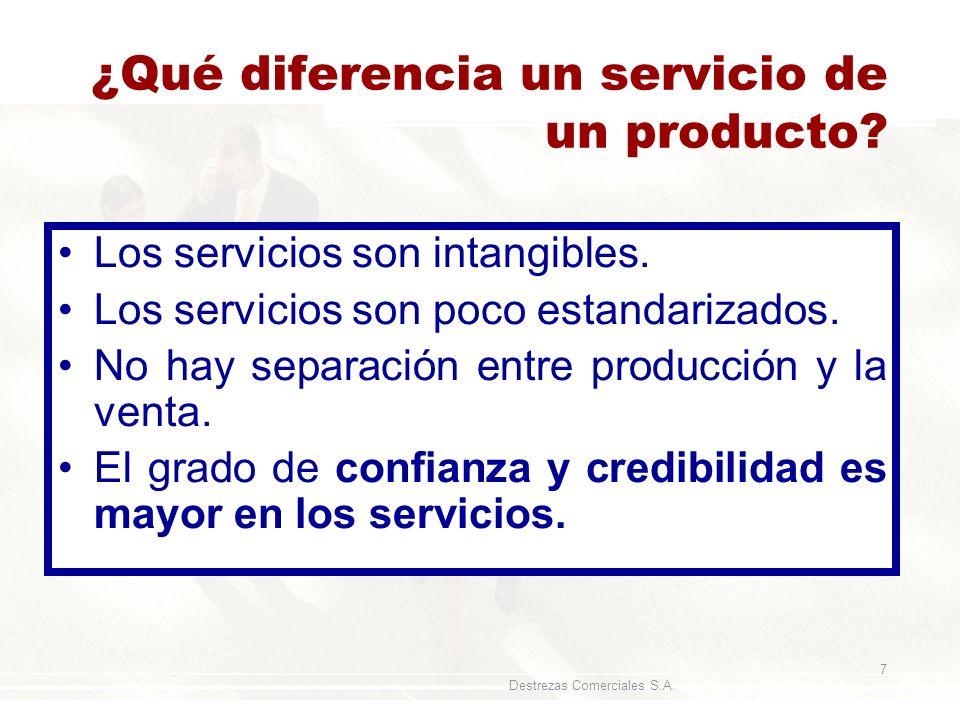 ¿Qué diferencia un servicio de un producto