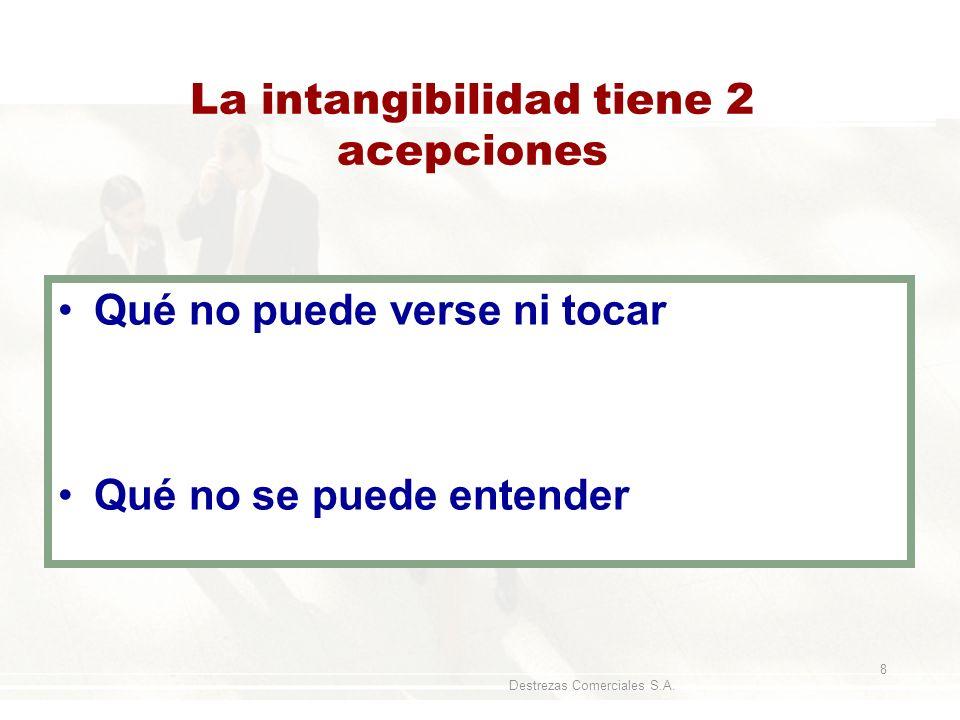 La intangibilidad tiene 2 acepciones