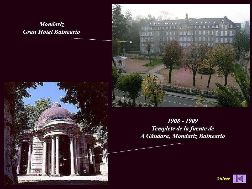 1908 - 1909 Templete de la fuente de A Gándara, Mondariz Balneario