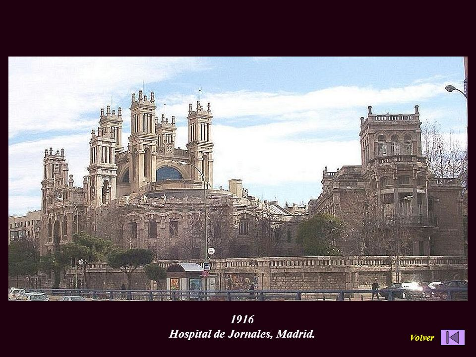 1916 Hospital de Jornales, Madrid.