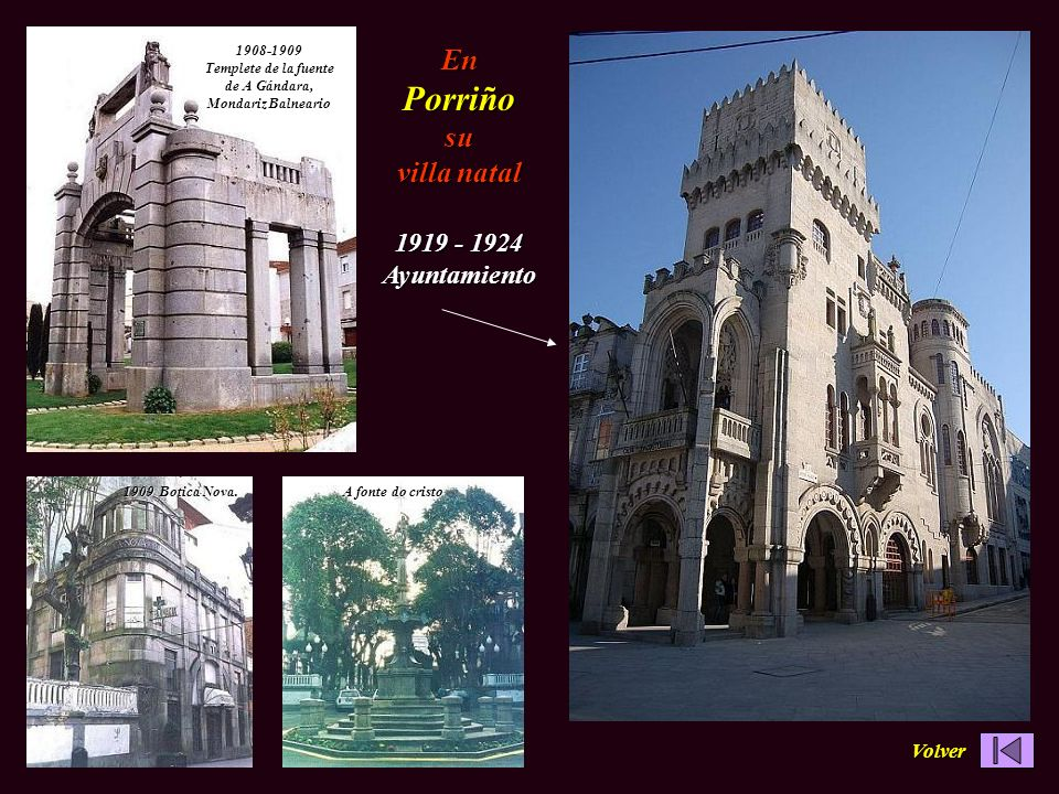 1908-1909 Templete de la fuente de A Gándara, Mondariz Balneario