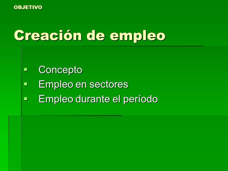 OBJETIVO Creación de empleo