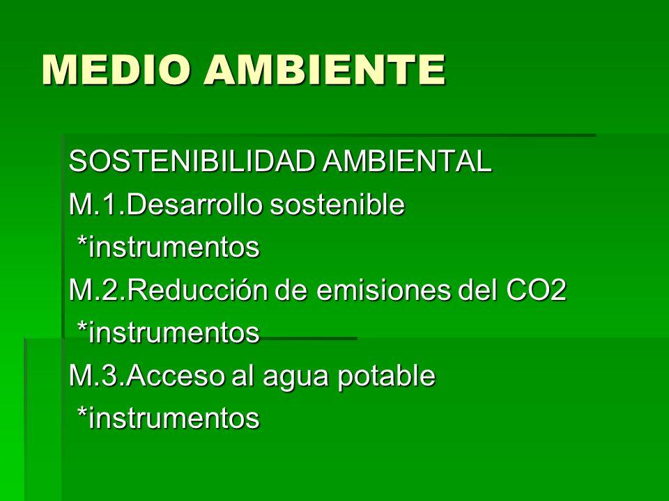 MEDIO AMBIENTE SOSTENIBILIDAD AMBIENTAL M.1.Desarrollo sostenible