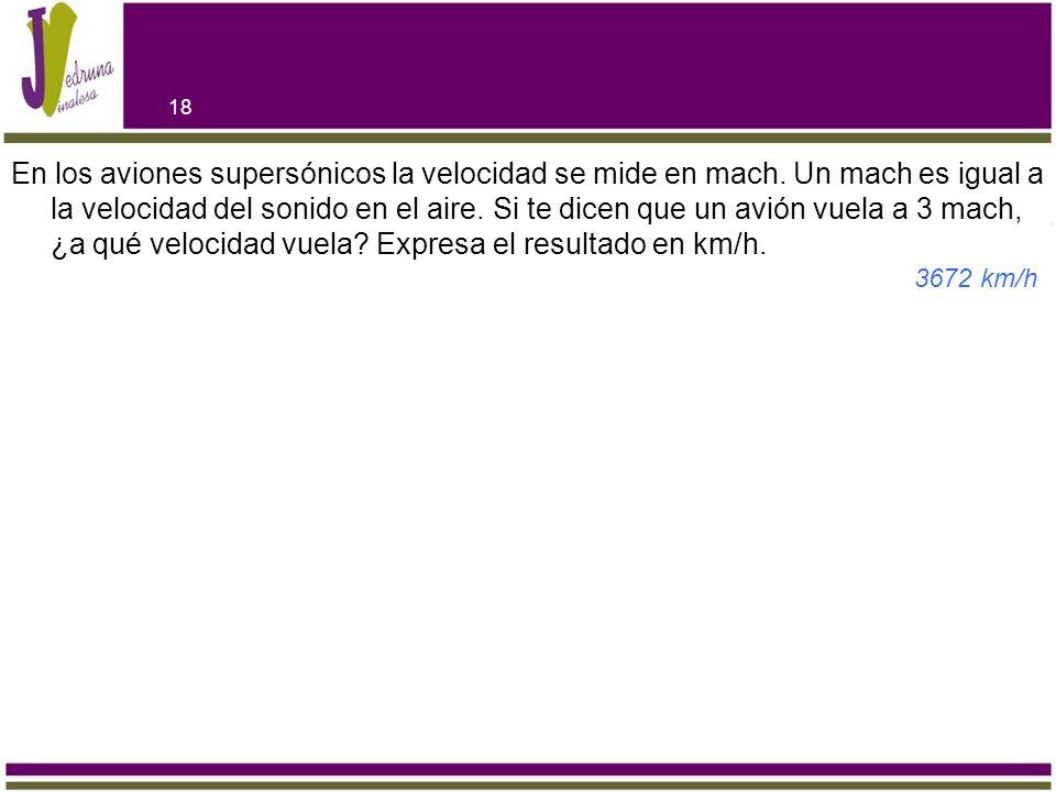 En los aviones supersónicos la velocidad se mide en mach