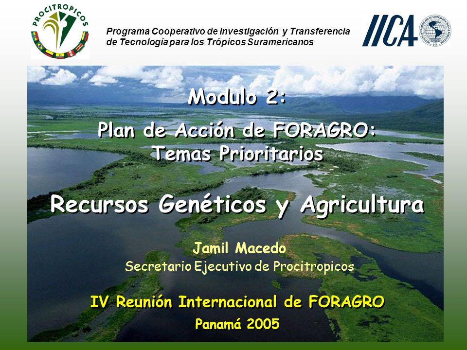 Recursos Genéticos y Agricultura